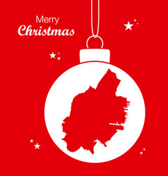 merry christmas theme with map of jersey new vector image