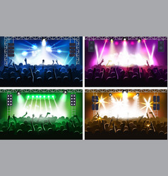 Music festival or concert streaming stage scene vector