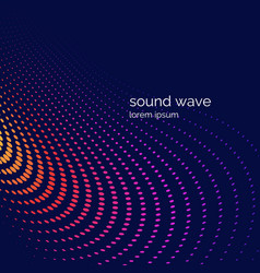 Musical wave in form vector