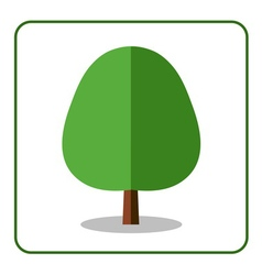 Oak linden tree icon vector