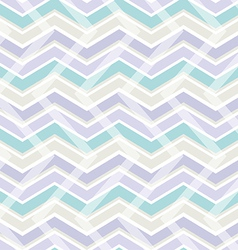 Pastel color zig zag seamless pattern vector image