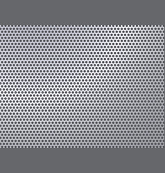 Perforated silver pattern vector