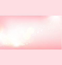 Pink blurred bokeh for holiday glowing background vector