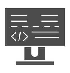 programming solid icon development vector image