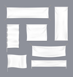 realistic 3d detailed white blank textile vector image