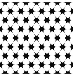 Repeating monochrome star pattern vector