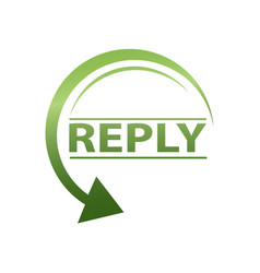 reply icon vector image