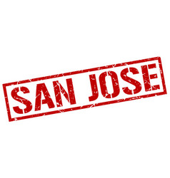 San jose red square stamp vector