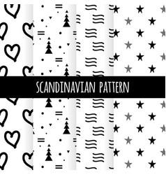 scandinavian pattern 1 vector image