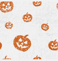 Seamless halloween pattern with pumkins jack vector