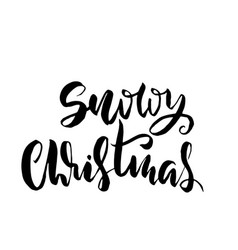 snowy christmas holiday modern dry brush ink vector image