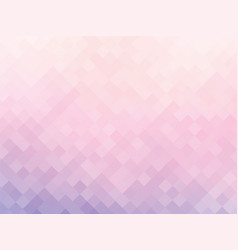 soft pink squares mosaic background vector image