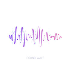 sound wave colorful sound waves for party vector image