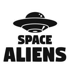 Space aliens day logo simple style vector