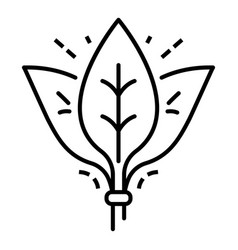 spinach leaf branch icon outline style vector image