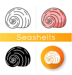 Spiral shell icon vector