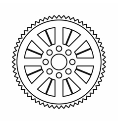 Sprocket from bike icon outline style vector