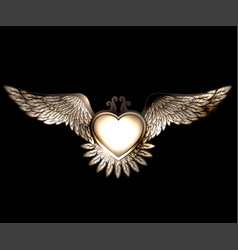 Steam punk style heart with wings vector