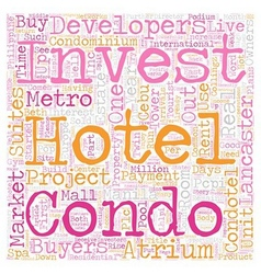 The Condotel Investment Opportunities text vector image