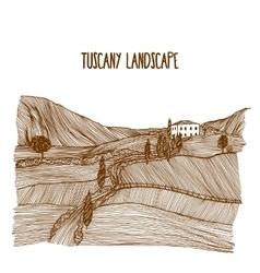 Tuscany Landscape vector