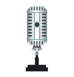 vintage microphone isolated realistic icon vector image