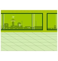 Window city view vector image