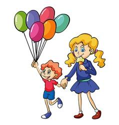 A girl and a boy vector image vector image