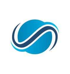 Abstract circle globe swirl company logo vector