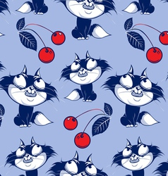 funny catroon cat smile background vector image vector image