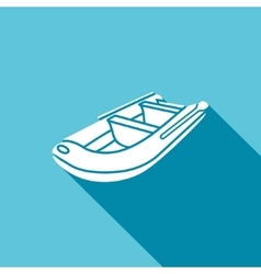 Inflatable boat icon vector image