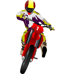 motorcycle on the road biker vector image