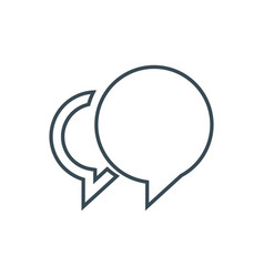 social chat icon vector image vector image