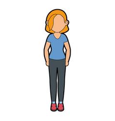 Stand up women cartoon vector