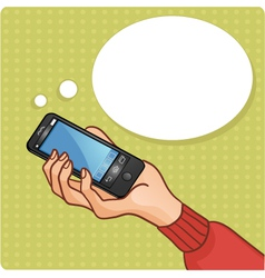 Woman hand with smartphone vector image