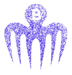 bitcoin spectre monster icon grunge watermark vector image