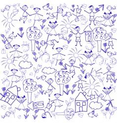 doodle elements vector image