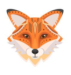 fox head logo decorative emblem vector image
