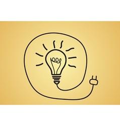 idea concept - sketch bulb vector image