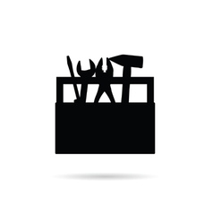 tool box icon in black vector image