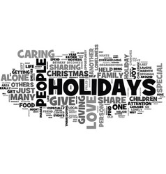 what to do when you are alone for the holidays vector image