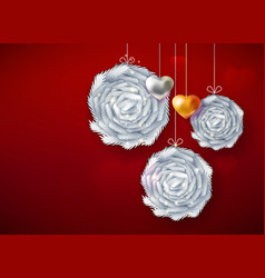 decorative paper art balls vector image