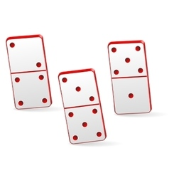 Icon game three dominoes vector image vector image