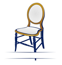 retro wood chair vector image vector image