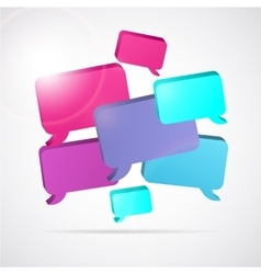 speech bubble background with text space vector image vector image