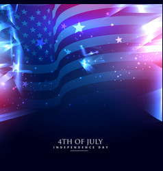 american flag in abstract background vector image vector image