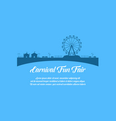 carnival funfair design style background vector image vector image