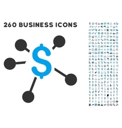 Money Distribution Icon with Flat Set vector image vector image