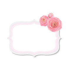 Pastel Pink Rose Label vector image vector image