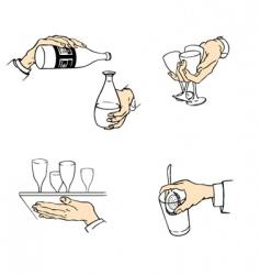 waiter hands vector image vector image