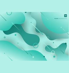 abstract green gradient fluid flowing shapes with vector image
